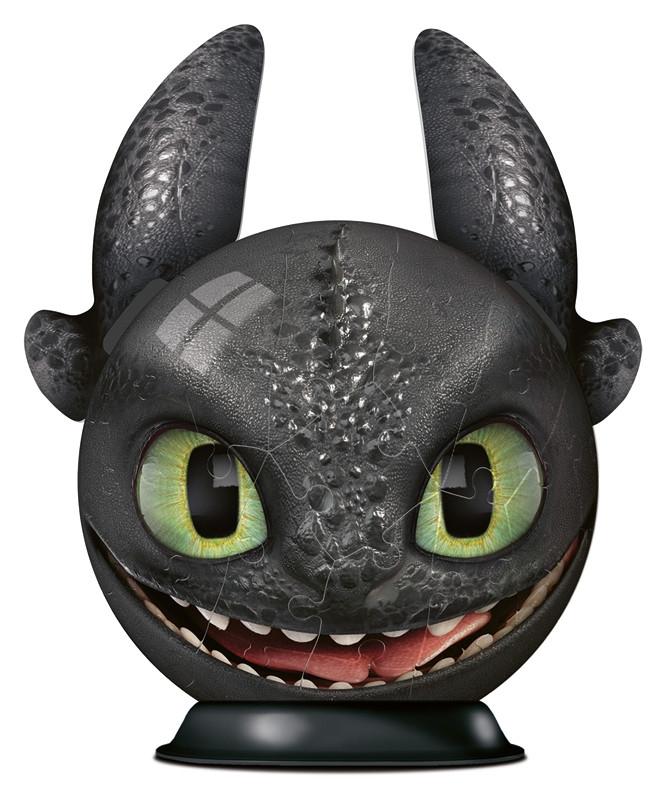 dragons 3 ohnezahn mit ohren  3d puzzleball