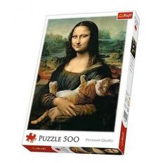 Mona Lisa and Purring Kitty