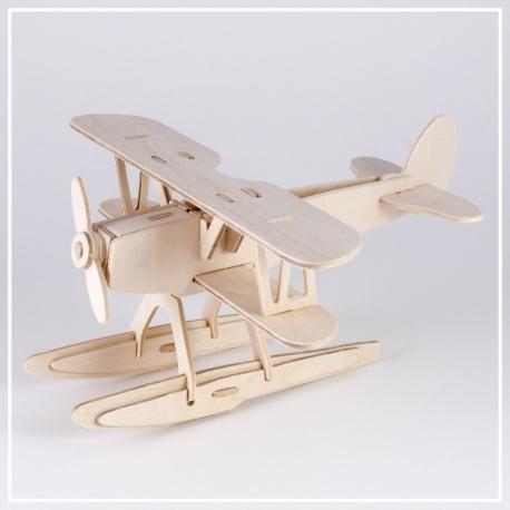 Wasserflugzeug - 3D Holzpuzzle
