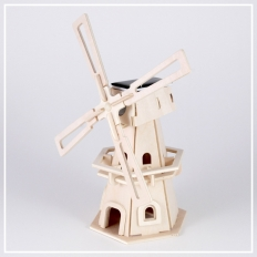 Windmühle - 3D Holzpuzzle