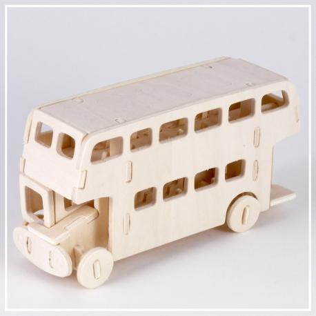 Doppeldecker Bus London - Holzpuzzle 3D
