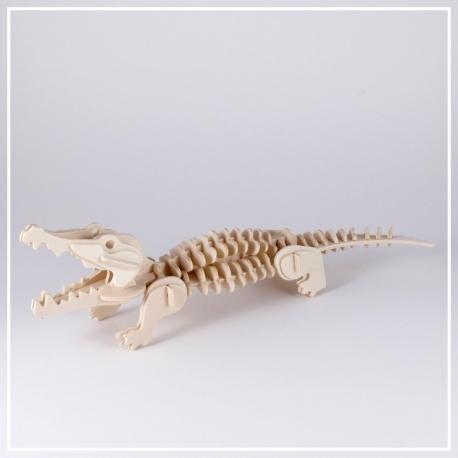 Krokodil - 3D Holzpuzzle
