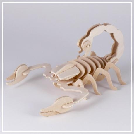 Skorpion - 3D Holzpuzzle