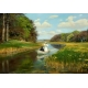 Spring - A young couple in a rowing boat on Odense - Hans Andersen Brendekilde
