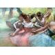 Four ballerinas on the stage - Degas Edgar