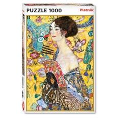 Dame mit Fächer - Gustav Klimt