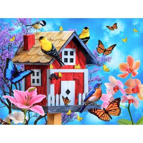 Red Birdhouse
