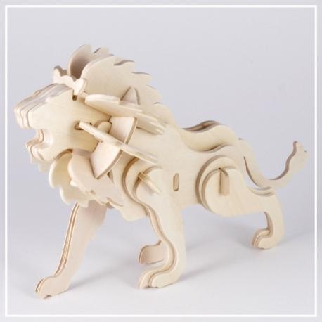 Löwe - 3D Holzpuzzle