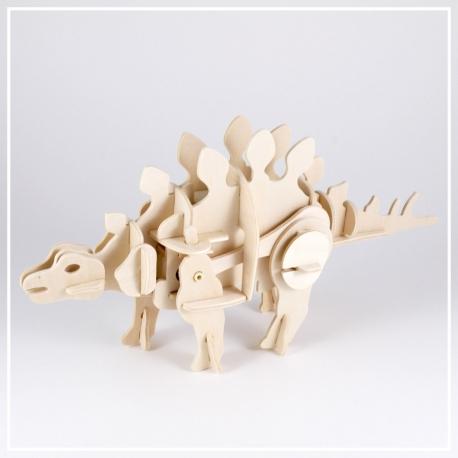 Stegosaurus - 3D Holzpuzzle