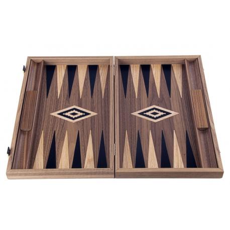 Backgammon Board Nussbaum Schwarz - 47 x 60cm