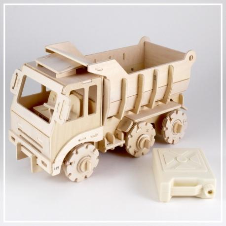 Lastwagen - 3D Holzpuzzle