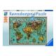 Antike Schmetterling-Weltkarte
