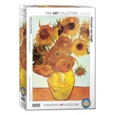 Zwölf Sonnenblumen in einer Vase - Vincent van Gogh