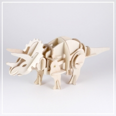Triceratops [klein] - 3D Holzpuzzle