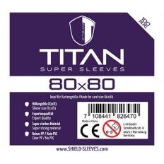 Shield Titan - 100 Super Sleeves (80 x 80mm)