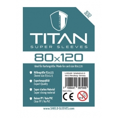 Shield Titan - 100 Super Sleeves (80 x 120mm)