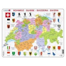Schweizerkarte, politisch
