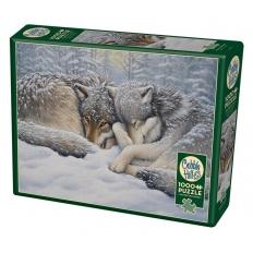 Wölfe bei der Winterruhe