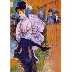 Jane Avril - Tanzend - Henri de Toulouse-Lautrec