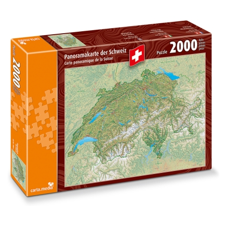 Panoramakarte der Schweiz