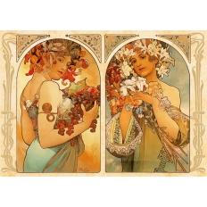 Früchte - Blumen - Alphonse Mucha