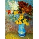 Blumen in blauer Vase - Vincent van Gogh