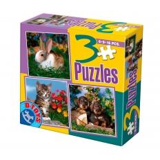 Tiere im grünen - Kaninchen - Katze - Hunde