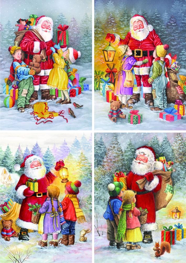 weihnachtsmann bringt geschenke puzzle set d toys. Black Bedroom Furniture Sets. Home Design Ideas