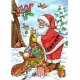 Weihnachtsmann - verteilt Geschenke