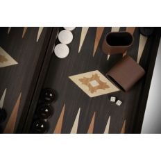 Backgammon Kassette Wenge-Design