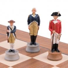Schachspiel Amerikanischer Unabhängigkeitskrieg - 50cm