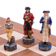 Schachspiel Piraten vs Royal Navy - 50cm
