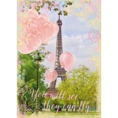 Luftballons am Eiffelturm