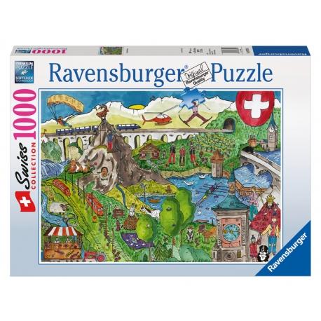 Wimmelbild Schweiz