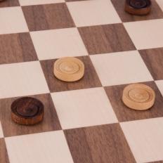 Damespiel Nussbaum / Ahorn - 50cm