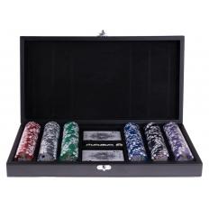 Pokerkoffer Kunstleder mit 300 Chips
