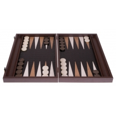 Backgammon Board Crocodile Leatherette - 47 x 60cm