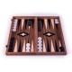 Backgammon Board Classic Nussbaum - 38 x 38cm