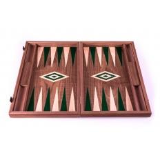 Backgammon Board Nussbaum Grün - 47 x 60cm