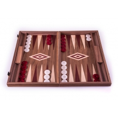 Backgammon Board Nussbaum Rot - 47 x 60cm