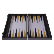 Backgammon Board Chromium Leatherette - 47 x 60cm