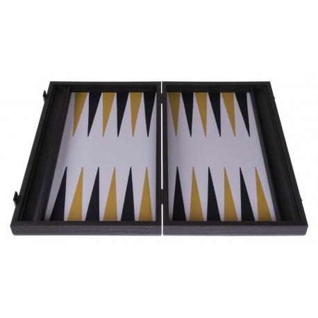Backgammon Board Chromium Leatherette - 47 x 60cm