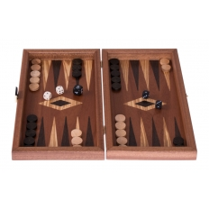 Backgammon Travelboard Mahagoni 30 x 33cm