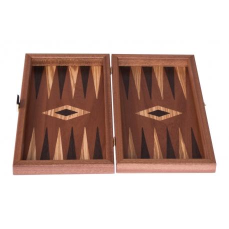 Backgammon Travelboard Mahagoni 30 x 33cm