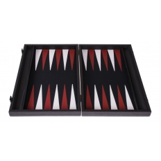 Backgammon Board Basket Weave Leatherette - 47 x 60cm