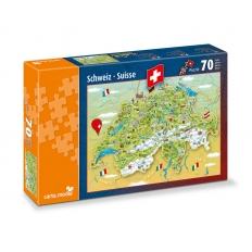Illustrierte Schweizer Karte