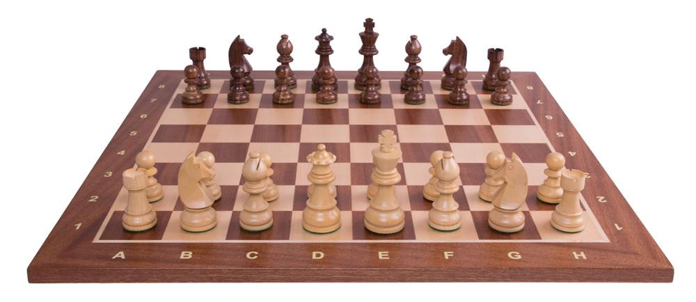 Turnierschachspiel Mahagoni - Grösse: 54 cm