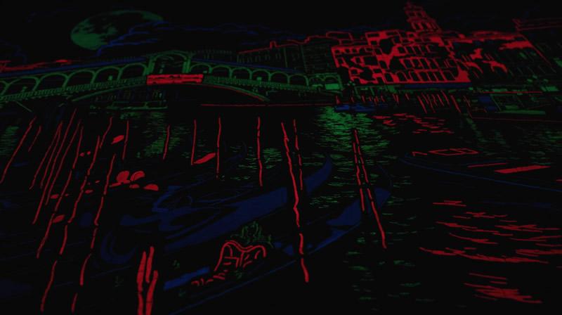 Vollmond in Venedig - Ansicht im Dunkeln