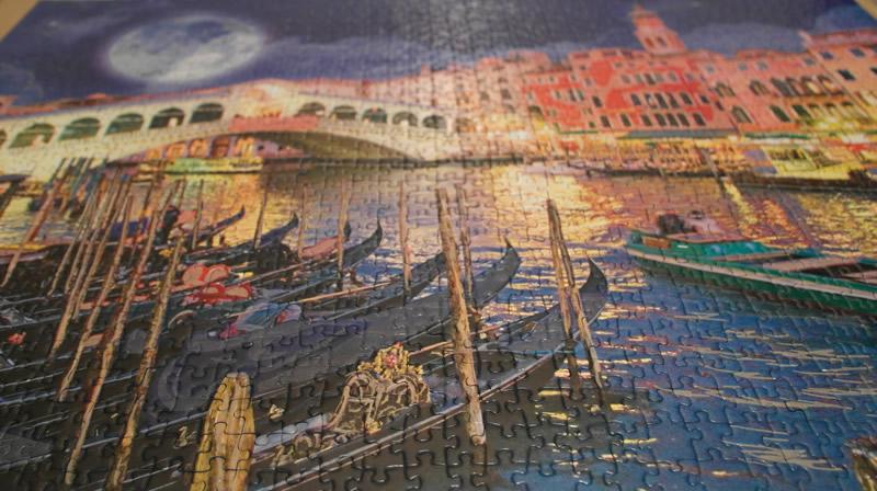 Vollmond in Venedig - Ansicht bei Tageslicht