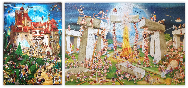 Lustige Cartoon Motive von D-Toys (Quelle: PuzzleBiene von puzzle-forum.de)